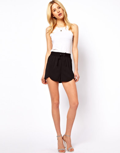 ASOS Shorts with Scallop Hem and Tie Waist