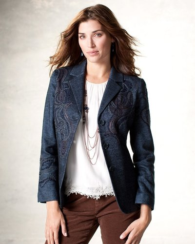 Embroidered riding jacket