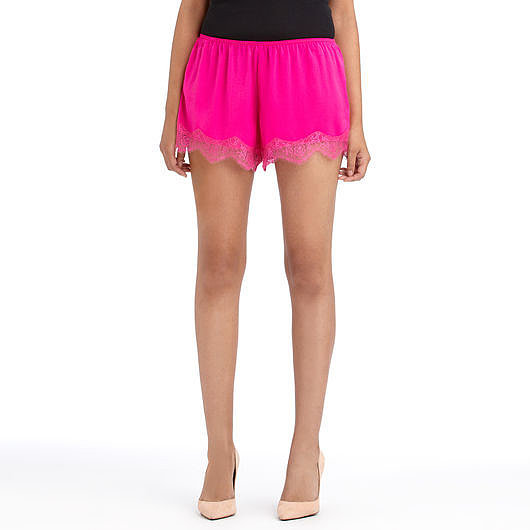 Want to get those limbs noticed? Then definitely hop on these Rachel Roy hot-pink lace-trimmed shorts ($19, originally $49).