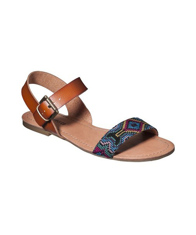 The simple shape of these Mossimo flats ($17) gets jazzed up with a multicolored band.