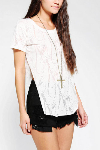 Lucca Couture Extreme Side Slit Tee