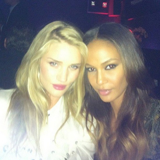 Rosie Huntington-Whiteley and Joan Smalls made a gorgeous twosome during a night out in Cannes. Source: Instagram user rosiehw
