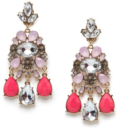 TOUCH - Crystal embellished chandelier earrings