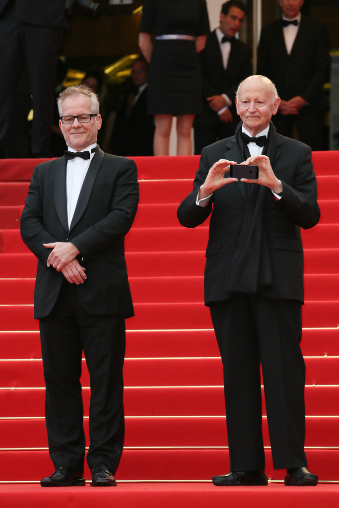 Cannes Film Festival chairman Gilles Jacob snuck a picture of artistic director Thierry Frémaux at Tuesday's Behind the Candelabra premiere.