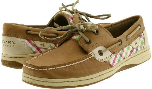 Sperry Top-Sider - Bluefish 2-Eye (Linen/Coral Seersucker Plaid) - Footwear