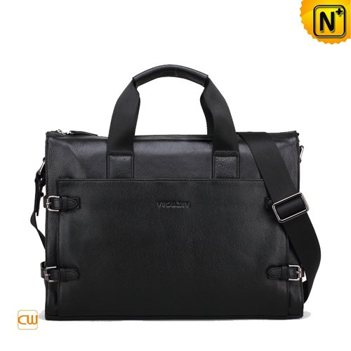 Vintage Black Leather Bags CW972515 - cwmalls.com