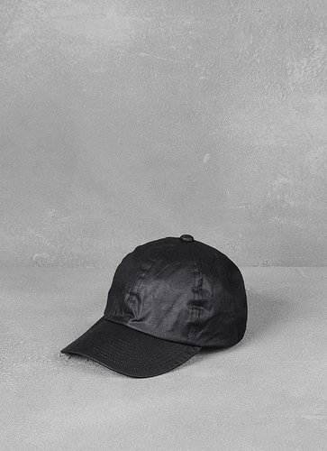 Roadie Cotton Cap with Leather Trim