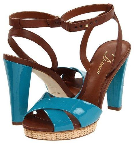 Delman - D-Dani-PV (Turquoise/Bruciato Patent/ Vacchetta) - Footwear