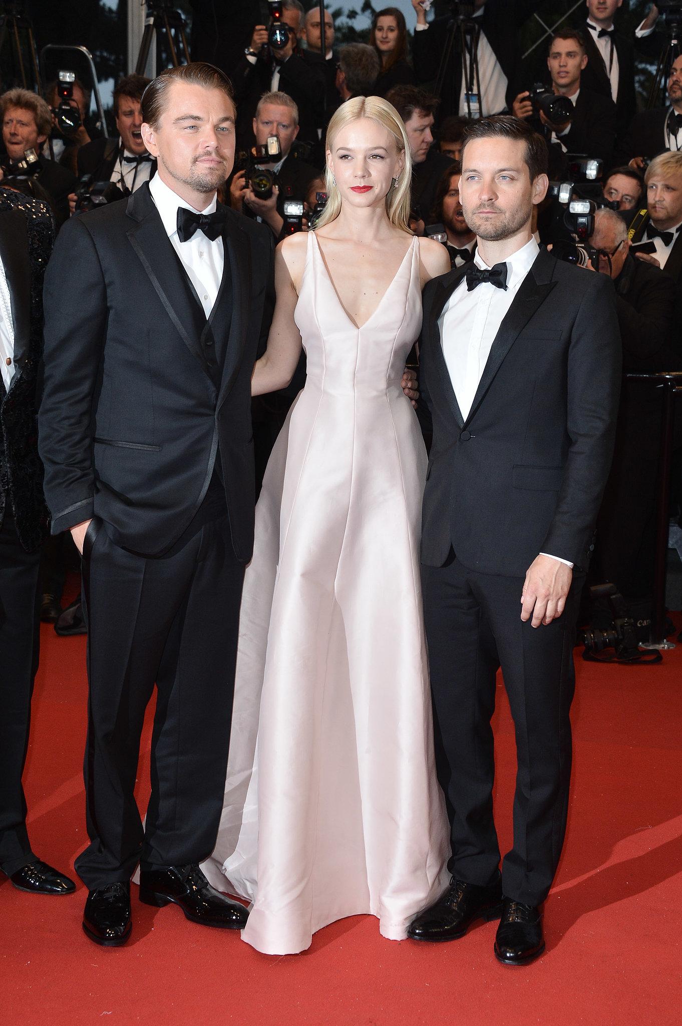 Carey Mulligan posed with her costars Leonardo DiCaprio