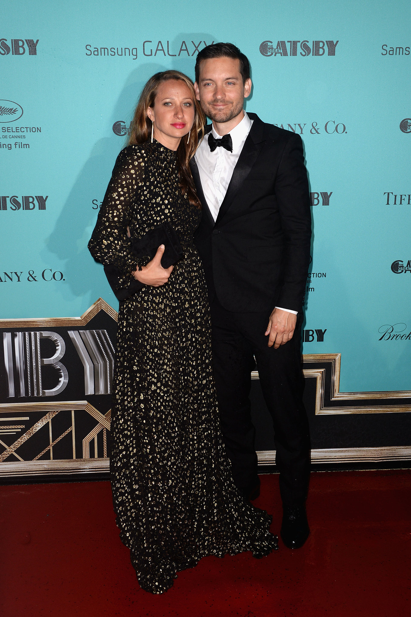 Tobey Maguire and wife Jennifer Meyer looked like a glamorous duo at the Great Gatsby party at Cannes.
