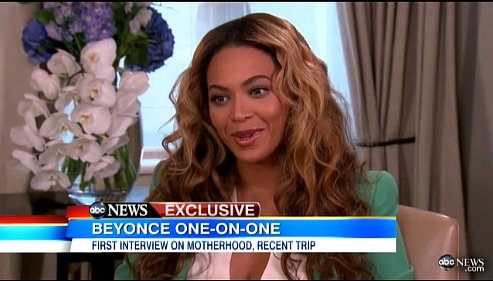 Beyoncé promoted the animated film Epic in an interview with Good Morning America in May. She talked about her emotional experience providing voice-over for the movie, as well as the prospect of making Blue Ivy a big sister.