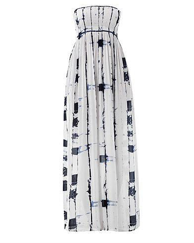 Cool Change Bamboo-print bandeau maxi dress