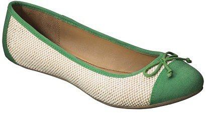 Women's Merona® Madge Cap Toe Ballet Flat - Green