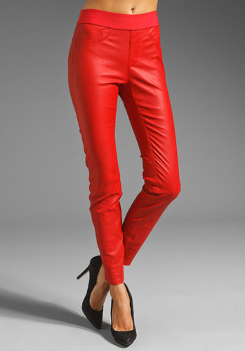 Catherine Malandrino Stretch Leather Pant