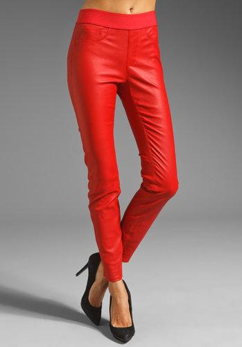 Catherine Malandrino Stretch Leather Pant