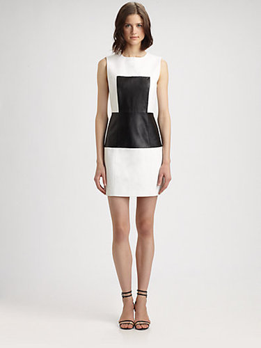 Tibi Amelie Leather Panel Dress