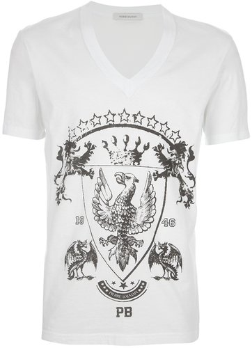 Pierre Balmain crest print t-shirt