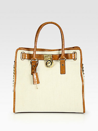 MICHAEL MICHAEL KORS Hamilton Canvas North South Tote