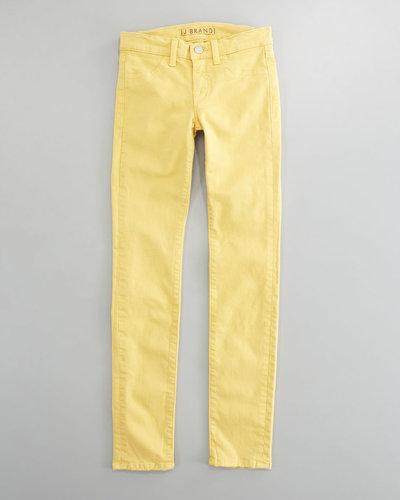 J Brand Jeans Luxe Twill Skinny Jeans, Lemon Tart