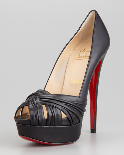 Christian Louboutin Arborina Twist-Front Platform Red Sole Pump