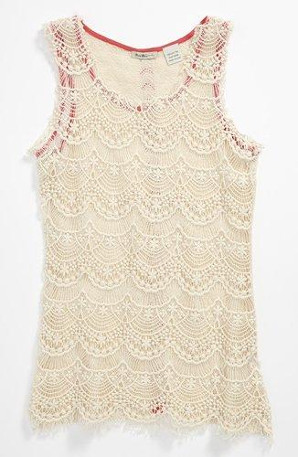 Miss Me Crochet Tank (Big Girls)