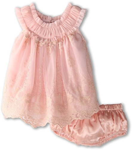 Luna Luna Copenhagen - Adeline Dress w/ Bloomer (Infant) (Petal) - Apparel