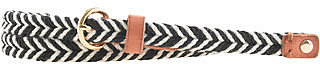 Two-tone skinny rope belt