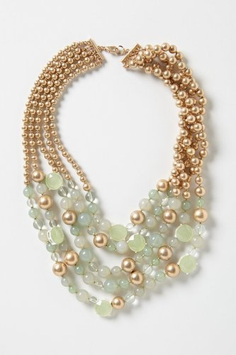 Frosted Seawater Necklace