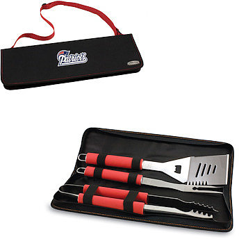 Picnic Time Metro BBQ Tote with Tools - New England Patriots (Red)
