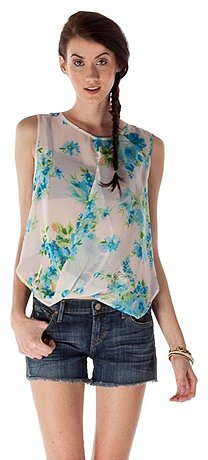 Chiffon Fold Over Top