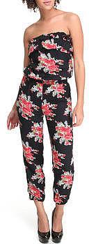 SALES ruffled tube top floral print jumpsuit