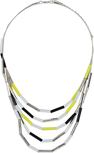 Tube Bead Multirow Necklace