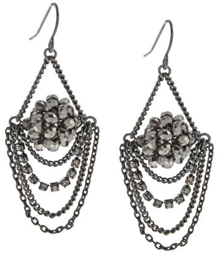 New! Kenneth Cole Silvertone Chandelier Earrings