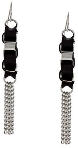 Alexa Starr Chain and Ribbon Tassel Earrings