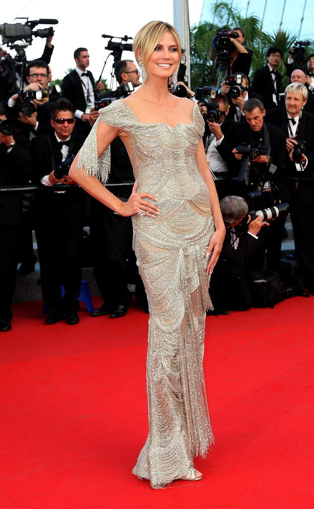 Heidi Klum in a Beaded Gown at the 2012 Cannes Film Festival