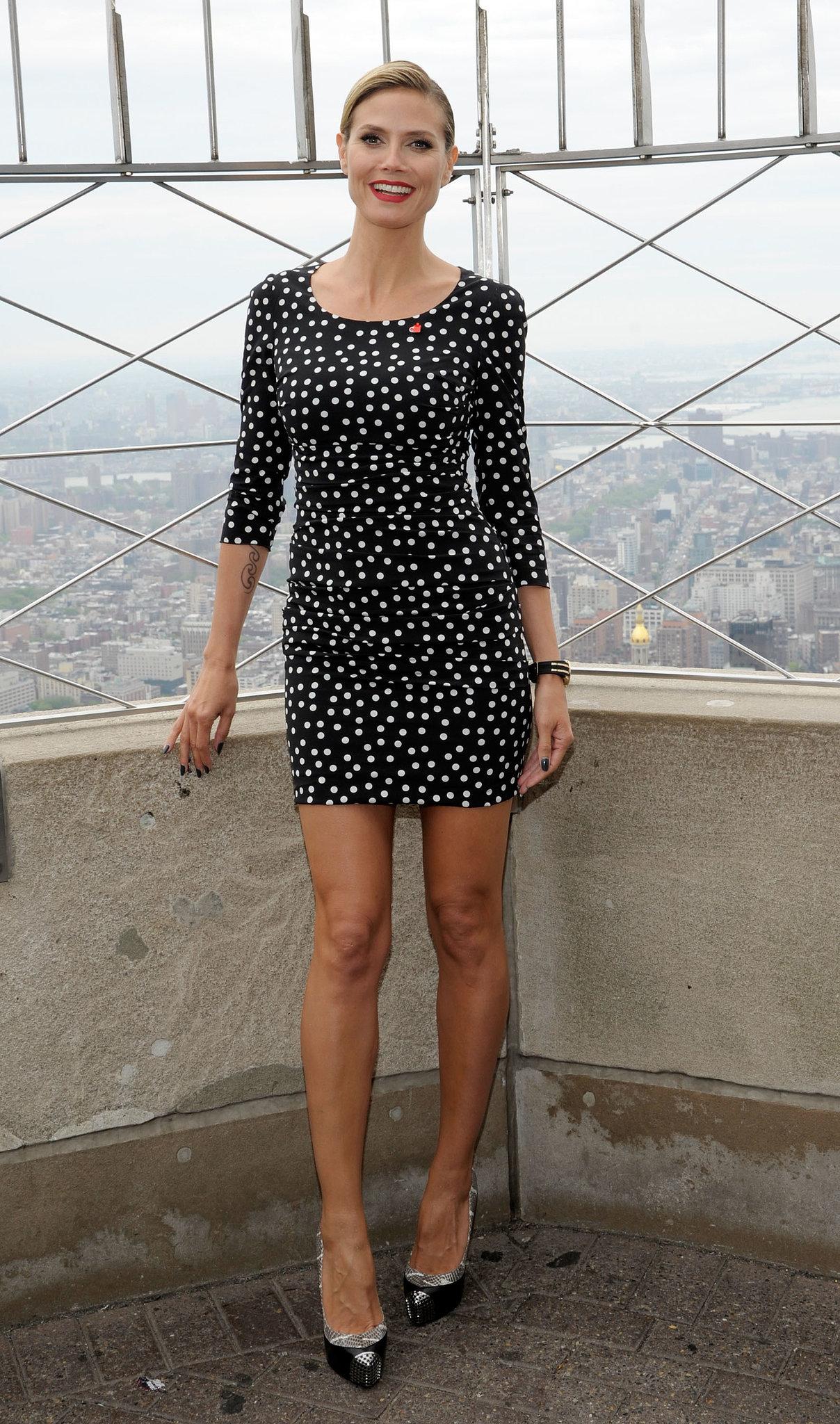 Heidi Klum in a Polka-Dot Dolce & Gabbana in 2012