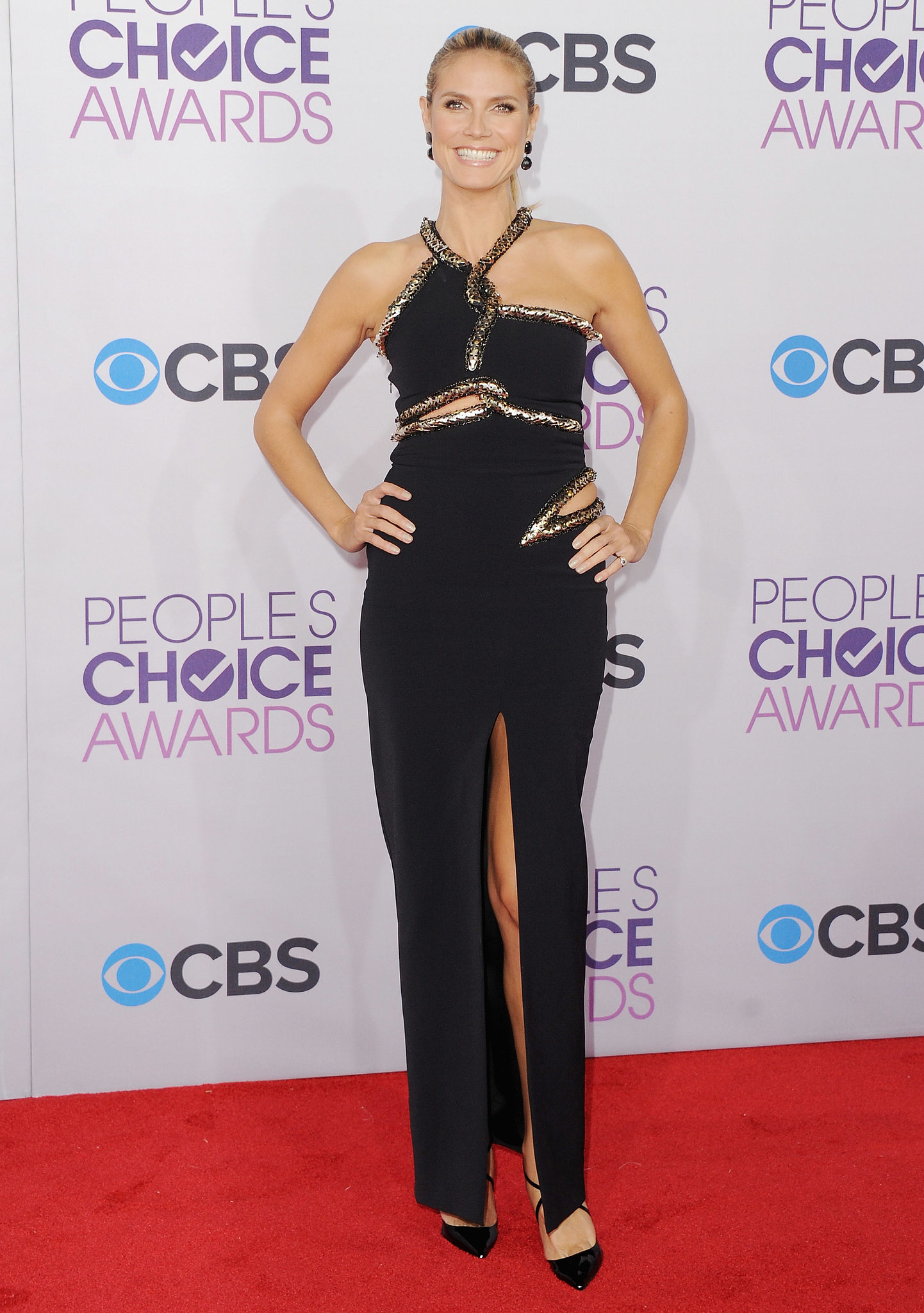 Heidi Klum in a Cutout Julien Macdonald at the 2013 People's Choice Awards