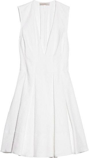 Vanessa Bruno Pleated cotton-jacquard dress