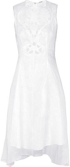 Carven Cutout cotton-organza dress