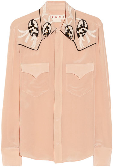 Marni Embellished silk shirt