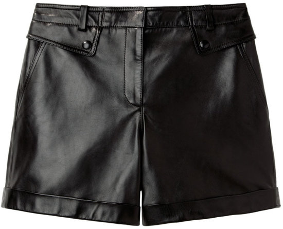 Alexander Wang / Cuffed Leather Shorts