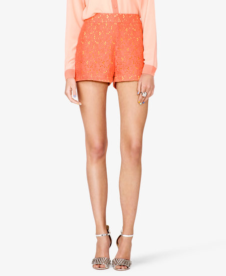 FOREVER 21 High-Waisted Crochet Lace Shorts