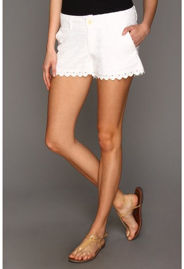 Lilly Pulitzer - Walsh Short (Resort White Sweet Floral Eyelet) - Apparel