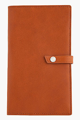 WANT LES ESSENTIELS DE LA VIE Tan leather Armstrong Travel Organizer with A7 Notepad