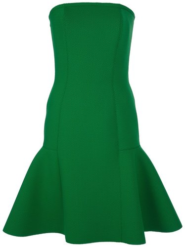 Lanvin strapless flared dress