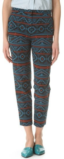 Jenni kayne Straight Printed Pants