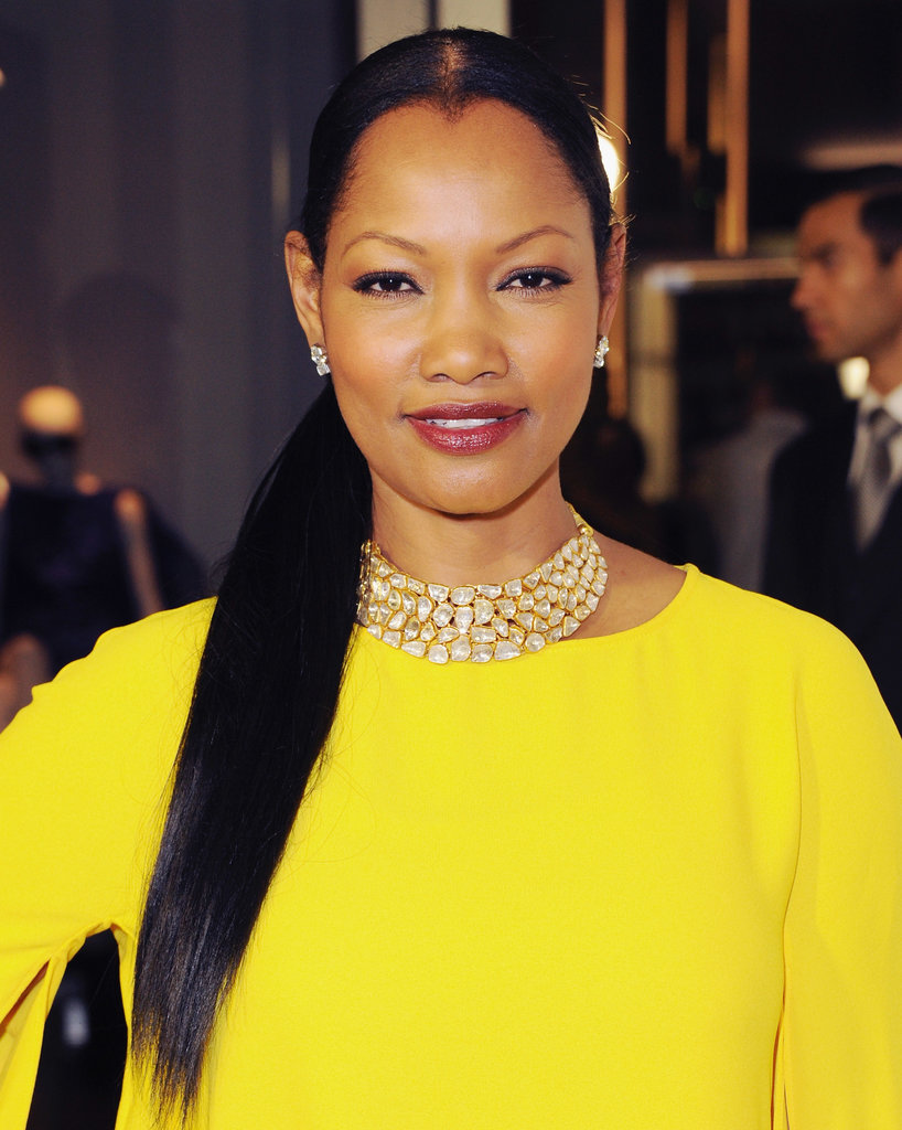 If you go with an extra-long look, why not throw your pony over one shoulder, like Garcelle Beauvais did at a Tom Ford event.