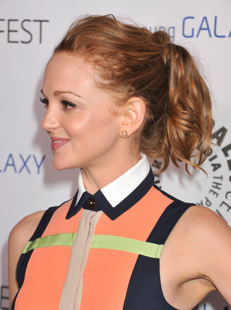 Another prime example of a voluminous pony is Jayma Mays's look at the PaleyFest Icon Awards. The tousled curls give the style an easy going vibe.