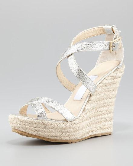 Jimmy Choo Porto Glitter Espadrille Sandal