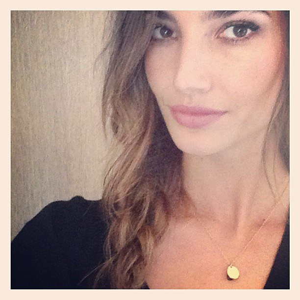 Lily Aldridge snapped a close-up of her Victoria's Secret shoot look. Source: Instagram user officiallilyaldridge